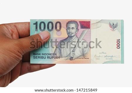 cash on hand - stock photo