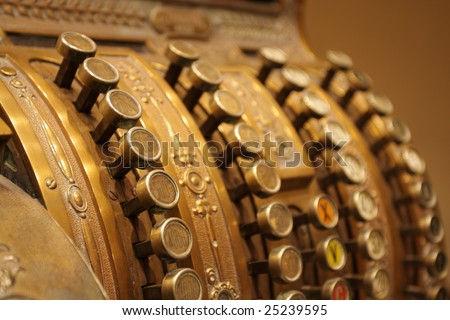cash register - stock photo