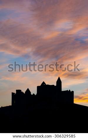 Cashel, Ireland, December 11, 2005. Rock of Cashel monastic site - stock photo