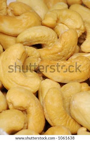 Cashew Nut Background - Vertical - stock photo