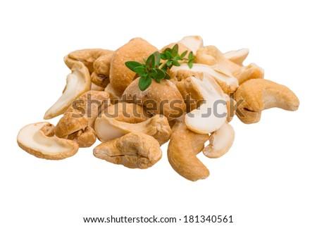 Cashew nut isolated - stock photo