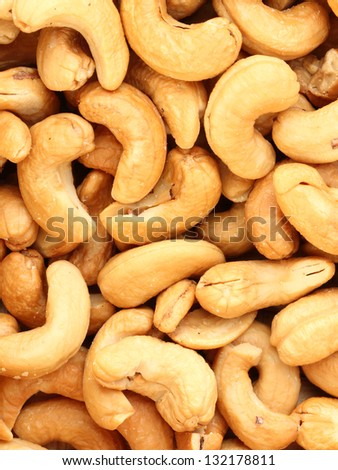 cashew nuts background - stock photo