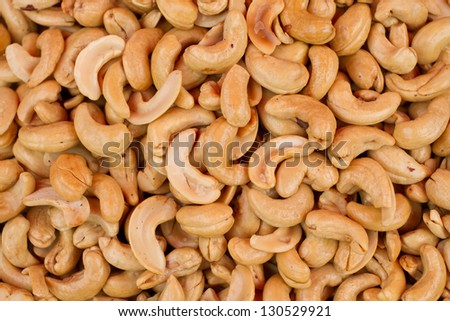 Cashew nuts closeup. - stock photo