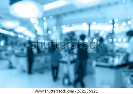 cashier store blur with bokeh background - stock photo