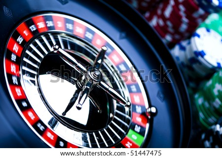 Casino - a place where you can win or lose money - stock photo