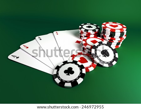 casino chips - stock photo