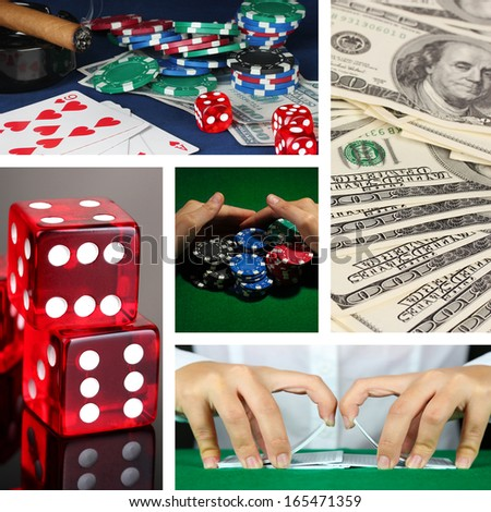 Casino collage - stock photo