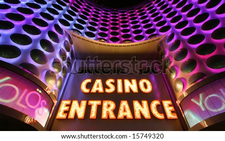 Casino entrance sign at the Las Vegas Strip
