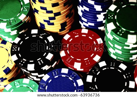 Casino gambling chips