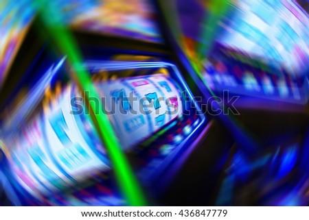 Casino Gambling Obsession Conceptual Illustration. - stock photo