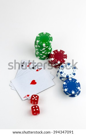 Casino Game Poker - stock photo