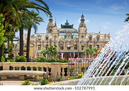 Casino house in Monaco. French Riviera - stock photo