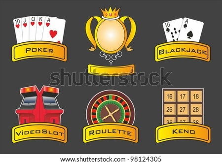 Casino icons. Raster version - stock photo