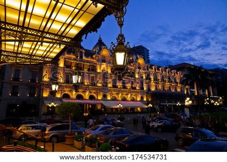 Casino in Monaco. Night landscape. Monte Carlo. - stock photo