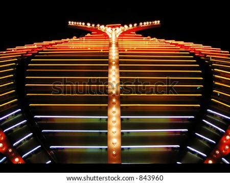 Casino neon lights - stock photo