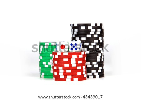 Casino / poker / games Chips and dices