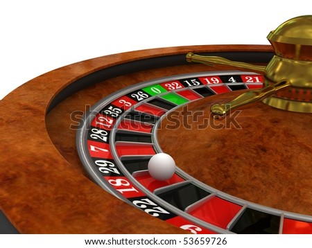Casino Roulette. 3d rendered image - stock photo