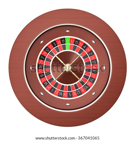 Casino roulette isolated on a white background.