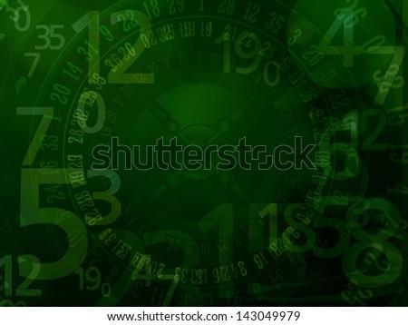 casino roulette numbers dark background - stock photo