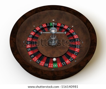 casino roulette on white table
