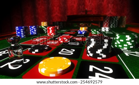 Casino Roulette Table - stock photo