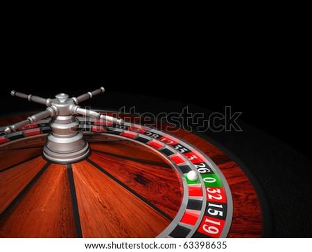 Casino Roulette Wheel - stock photo