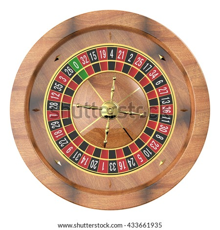 Casino roulette wheel 3D - stock photo