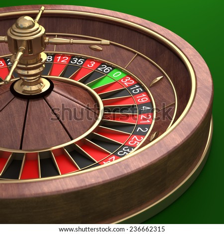 Casino Roulette Wheel.  High resolution 3d