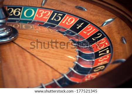 casino roulette without ball - colorized photo - stock photo