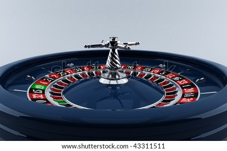 CASINO, THE ROULETTE WHEEL - stock photo
