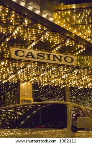 Casino with Limo and LIGHTS - stock photo
