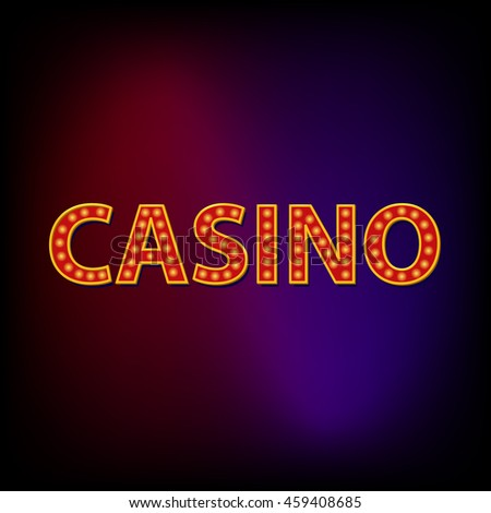 Casino word icon in cartoon style for any design - stock photo