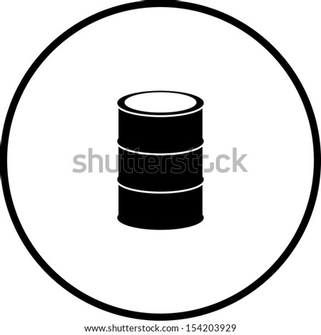 cask or metal barrel symbol