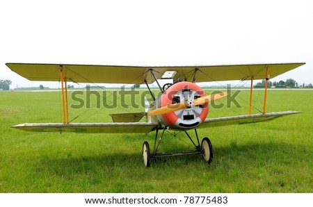 CASLAV, CZECH REPUBLIC - MAY 28: Sopwith Camel during Open day at airport Caslav, May 28, 2011 in Caslav, Czech Republic. - stock photo