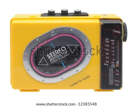 Cassette Player - stock photo