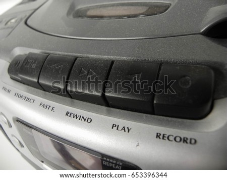 Cassette player buttons