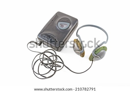 Cassette player  isolated on white background  - stock photo