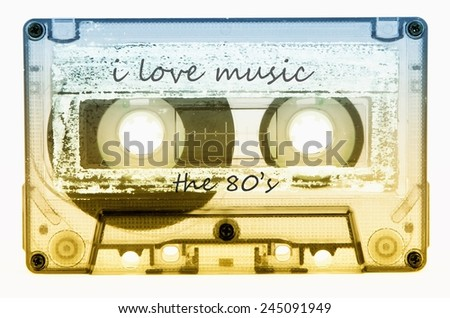 cassette tape - stock photo