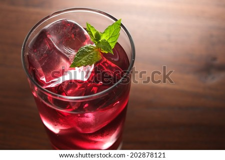 cassis grape cocktail - stock photo