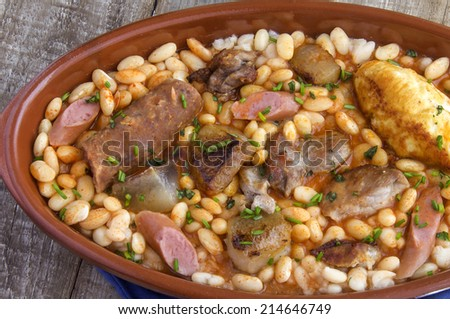 Cassoulet stew typical of southern France - stock photo