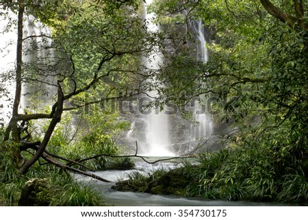 Cassowary Falls, Daintree area, Far North Queensland, Australia - stock photo