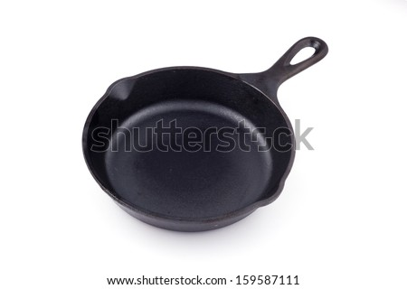 Cast-iron frying pan skillet - stock photo