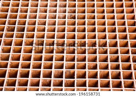 Cast Metal Grate Grid Background