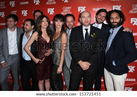 "Cast of ""The League"" at the FXX Network Launch Party and ""It's Always Sunny in Philadelphia"" Season 9 and ""The League"" Season 5 Premiere, Lure, Hollywood, CA 09-03-13 - stock photo"