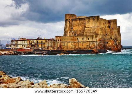Castel dell'Ovo. Naples, Italy - stock photo