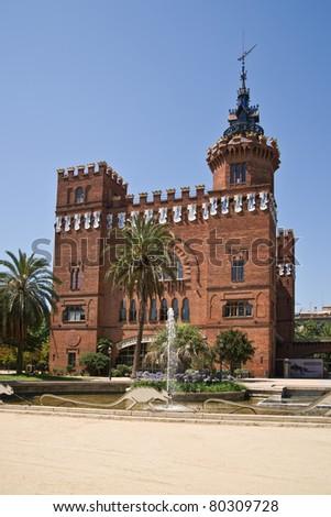 Castel dels Tres Dragons in Parc de la Ciutadella. Barcelona - stock photo