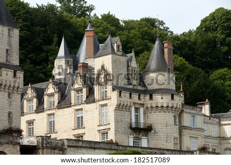 Castel of Rigny-Usse   Known as the Built in the eleventh century. Loire Valley, France - stock photo