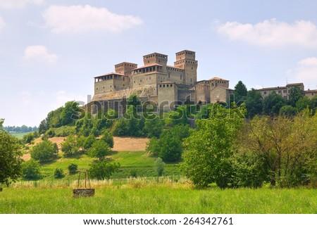 Castel of Torrechiara. Emilia-Romagna. Italy. - stock photo