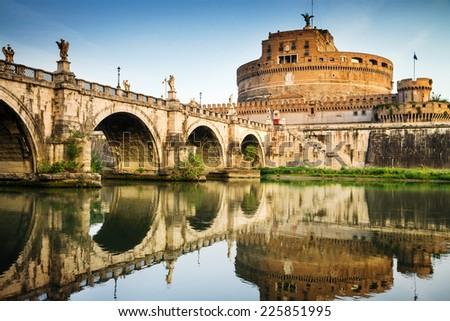 Castel saint Angelo, Rome, Italy - stock photo