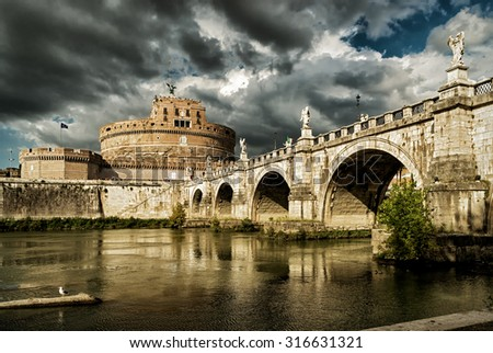 Castel Sant'Angelo (Castle of Holy Angel), Rome - stock photo